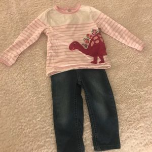 Toddler Girls Dinosaur Outfit